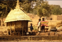 Life back in the stone age--thatched roofs and mud huts: Burkina Faso, one of the poorest countries in the world