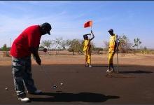 This year's winner, Billi Beyan on the 18th Hole, Golf Club De Ouagadougou