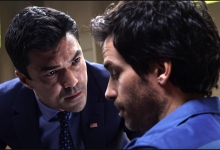Ian Anthony Dale gives Santiago Cabrera the third degree: Salvation/CBS