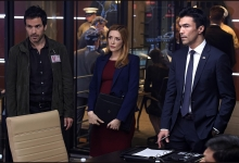 Santiago Cabrera, Jennifer Finnigan and Ian Anthony Dale: Salvation/CBS