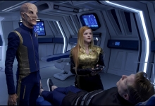 Doug Jones, Mary Wiseman and Anthony Rapp:  Star Trek Discovery/CBS