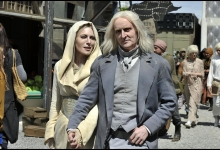 Jaime Murray and Tony Curran stroll through The Hollows in Defiance/SyFy