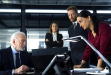 Christopher Plummer, Claire Forlani,  Kris Holden-Ried and Archie Panjabi star in Departure