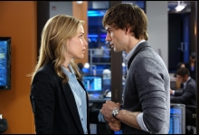 Piper Perabo and Christopher Gorham in Covert Affairs for USA Network