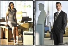 Gina Torres and Gabriel Macht in Suits for USA Network