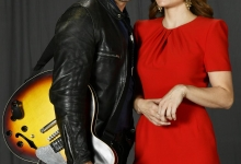 Country Singer J.T. Hodges with Erica Durance for Lifetime