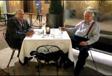 Lawyers in repose:  Harvey Strosberg and Eddie Greenspan